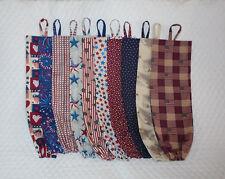 Americana Design Homemade Fabric Plastic Grocery Bag Holder