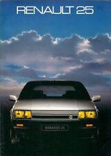 Renault 25 1985-86 UK Market Brochure Limousine V6 Turbo V6 Injection GTX GTS TS