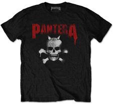 Pantera 'Horned Skull Stencil' (Black) T-Shirt - NEW & OFFICIAL!