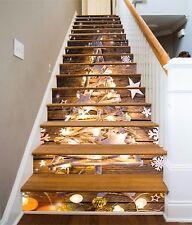 3D Christmas Tree 5 Stair Risers Decoration Photo Mural Vinyl Decal Wallpaper UK