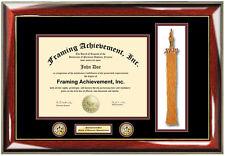 Double Logo Tassel University Diploma Frame Certificate College Degree Plaque