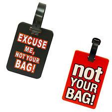 Etiquetas de Equipaje de Viaje Bolsa de ID de PVC no Equipaje Etiqueta de Maleta identificar su bolsa