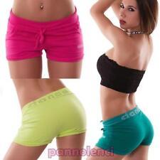 Mujer pantalones cortos deporte shorts fitness danza gimnasio STRASS nuevo FC-6