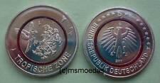 Deutschland 5 Euro 2017 Tropische Zone Gedenkmünze Sammlermünze coin Wahl ADFGJ