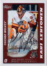 2003-04 Pacific AHL KARI LEHTONEN On-Card Auto Rookie Rare SP RC #/500