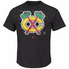 NHL Eishockey T-Shirt CHICAGO BLACKHAWKS Logo Hockey Pond von Majestic