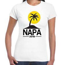 Señoras Napa 2018 destino de vacaciones Camiseta AYIA Palm