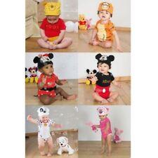 Oficial Disney Personaje Bebé Bebés Niña Niño Jersey Mono + Sombrero Navidad
