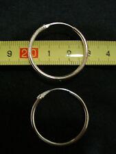 orecchini argento 925 modello cerchietto liscio 25 22 20 18 16 14 12 8 mm stock