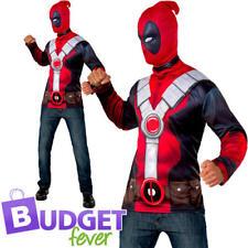 Deadpool Top Mens Fancy Dress Superhero Comic Book Day Week Adults Costume Kit