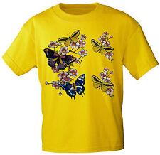 (06991 AMARILLO) KIDS CAMISETA mariposas mariposa FLORAL TALLA 104-164