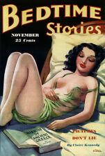 11 vintage revista historias de arte de la hora de acostarse Pulpa