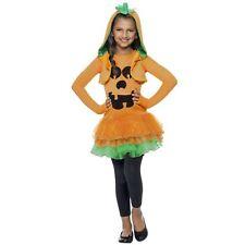 Infantil Naranja Calabaza jack o linterna Halloween Tutú Vestido Disfraz Hood