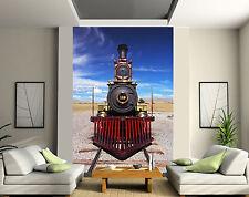 Papier peint géant 2 lés, tapisserie murale déco Locomotive réf 115