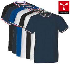 T-Shirt FLAG - Payper - Girocollo -Manica Corta Colletto Tricolore - Uomo Cotone
