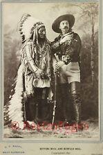 New Art Print 1897 D.F. Barry Photo Buffalo Bill & Sitting Bull WIld West