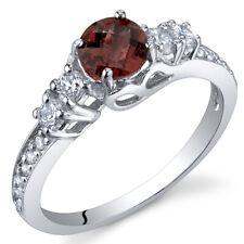 Enchanting 0.50 cts Garnet Ring Sterling Silver
