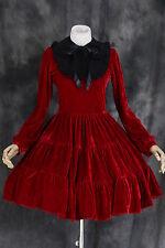 m-521 talla L Rojo Red Terciopelo Cosplay Gótico Lolita Vestido disfraz Rococó