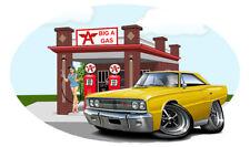 1967 Coronet Big A Gas Station Wall Decal Mural Muscle Car Garage Decor