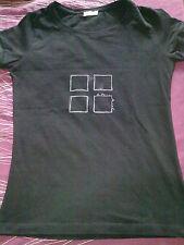 ANTONIO MIRÓ - Top Camiseta Negra Manga Corta -  Talla  40  (M)