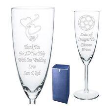 Gravée flûte à champagne cadeau de mariage vous remercier-présent