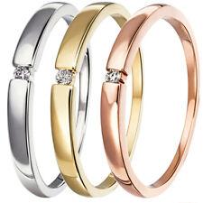 Goldmaid Ring Solitär Weissgold,Gelbgold oder Rotgold 1 Brillant 0,03 ct. NEU