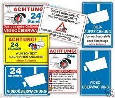 Schild Videoüberwachung Kamera Sicherheit Hinweisschild Alarm -PVC oder Aluverb.