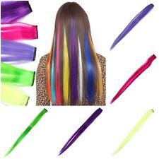 Clip Extensions Kunsthaar Glatt Haarverlängerung Haar Hair Fashion Look Clips
