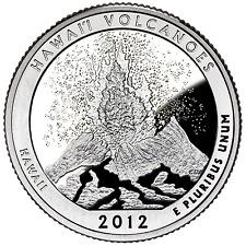 US QUARTER DOLLAR UNC 2012 HAWAII VOLCANOES NAT PARK S P D Mint COINS