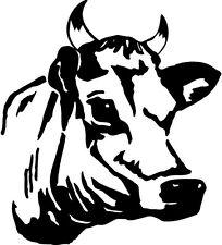 cow head jerry milk beef milk chocolate farm dariy    VINYL DECAL STICKER 856