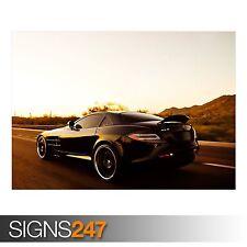 Mercedes McLaren SLR velocidad (AB635) cartel de auto-arte cartel impresión A0 A1 A2 A3