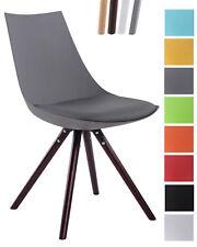 Chaise de salle à manger ALBI revêtement similicuir piétement bois hêtre rond