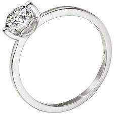Damen Ring 925 Sterling Silber 1 Zirkonia Silberring