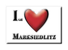 DEUTSCHLAND SOUVENIR - SACHSEN MAGNET ICH LIEBE  MARKSIEDLITZ (MEIßEN)