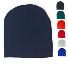 Winter 8' Beanies Classic Short Uncuffed Hats Skull Caps Acrylic Ski Unisex