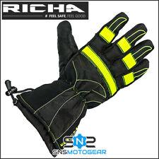 Richa Probe Textile Motorcycle Motorbike 100% Waterproof Gloves - Fluorescent
