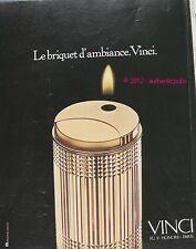 PUBLICITE BRIQUET D'AMBIANCE VINCI 1975 AD LIGHTER ADVERT