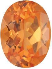 Natural Fine Rich Mandarin Orange Spessartite Garnet - Oval - Brazil - Top Grade
