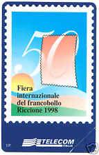EUROPA CARD SHOW RICCIONE 1998 SCHEDA NUOVA TELECOM 864