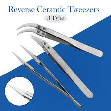 Stainless Steel Ceramic Tipped Tweezer Tweezers Fine Straight Tip Curved Tip
