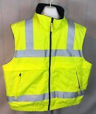 Nwot VizGuard by Spiewak Florescent Vest Reversable Reflective Xl & 2Xl (R12)