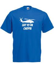 Get to the Choppa rechange, prédateur inspiré Homme T-shirt imprimé