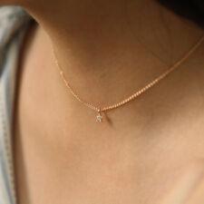 Tiny Star Pendant Diamond Necklace Dainty Choker Minimalist Layering Necklace