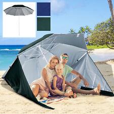 2 in 1 Strandschirm Sonnenschirm Strandmuschel Windschutz 210cm