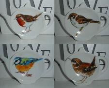 BN Garden Bird Tea Bag Rest, Robin, Wren, Sparrow, Blue Tit Tea Bag Holder, Gift