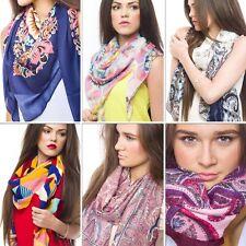 Designer Print Soft Chiffon Silk Scarf Neck Shawl Scarf Scarves Stole Wrap UK