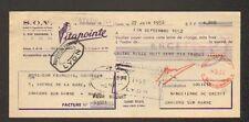 """LYON (69) PRODUITS pour CHEVEUX / COIFFEUR """"S.O.V. VITAPOINTE"""" en 1952"""