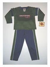 Sweatshirt mit Jogginghose Set von Harley Davidson mit Stickmotiv Blau/Grün