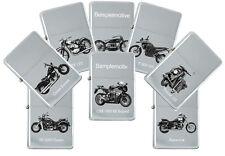 Sturmfeuerzeug mit echter Gravur: Motorrad Modelle Marke Suzuki Benzinfeuerzeug