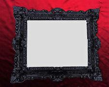 Wall Mirror Black Repro 45x38 spiegelantik Baroque replica Rectangular 345 12